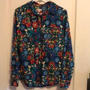 Merona like new blouse. Wild rainbow 🌈 colors